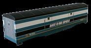 RXR Express 50ft Baggage Car - Teal/Black