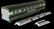 RXR Express 60ft Passenger Car - Teal/Black